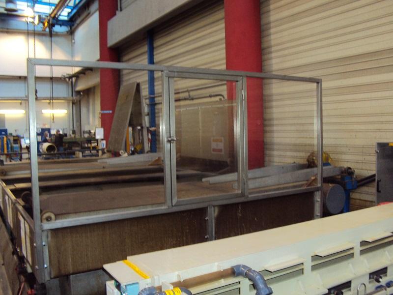 Ecran de protection en inox/PVC Transparent