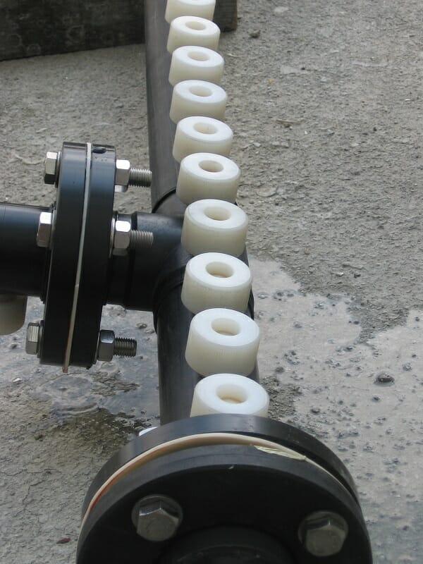 Rampe de lavage PE HD DN50